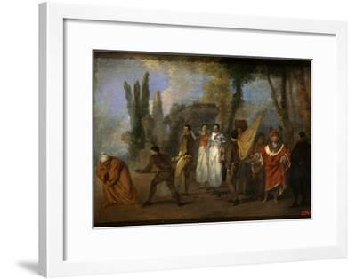 A Satire on Physicians, C1708-Jean-Antoine Watteau-Framed Giclee Print