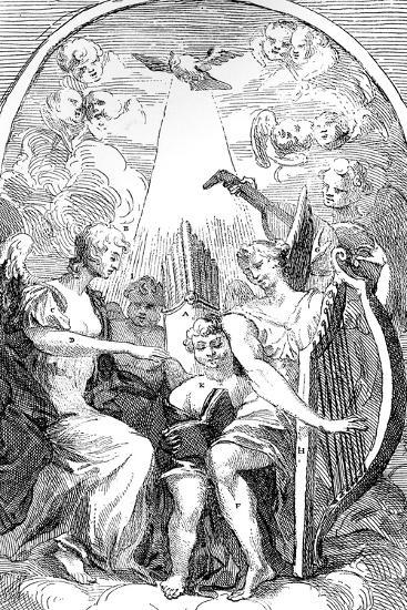 A Satire on the Altar-Piece by Kent in St Clement Danes Church, Westminster, 1725-William Hogarth-Giclee Print