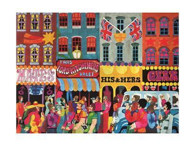 A Saturday Morning 1, from 'Carnaby Street' by Tom Salter, 1970-Malcolm English-Giclee Print