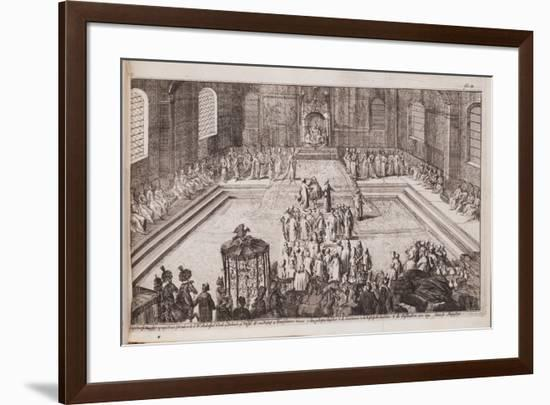 A Scene at the Royal Court of Tsar Alexis Mikhailovich, 1677-Romeyn De Hooghe-Framed Giclee Print