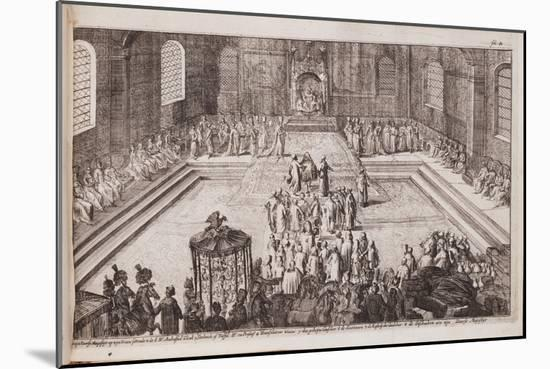 A Scene at the Royal Court of Tsar Alexis Mikhailovich, 1677-Romeyn De Hooghe-Mounted Giclee Print