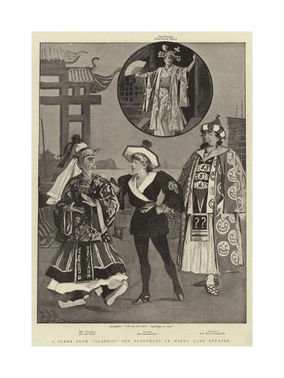 A Scene from Aladdin, the Pantomime at Drury Lane Theatre-Alexander Stuart Boyd-Giclee Print