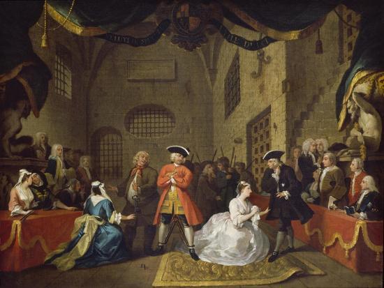 A Scene from The Beggar's Opera VI-William Hogarth-Giclee Print