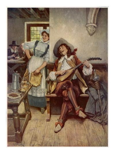A Scene from the Interior of a Seventeenth Century Tavern--Giclee Print