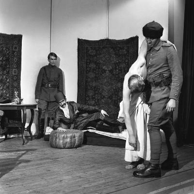 A Scene from the Terence Rattigan Play, Ross, Worksop College, Nottinghamshire, 1963-Michael Walters-Photographic Print