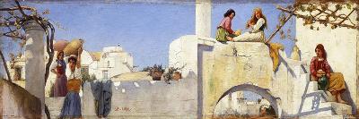 A Scene in Capri-Charles Caryl Coleman-Giclee Print