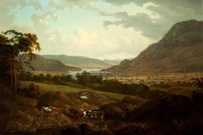 A Scene in the Lake District-Julius Caesar Ibbetson-Giclee Print