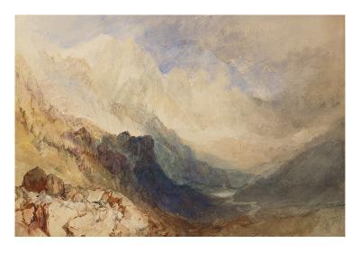 A Scene in the Val D'Aosta-J^ M^ W^ Turner-Giclee Print