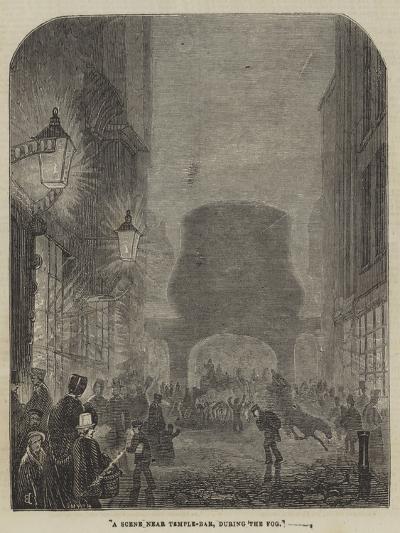 A Scene Near Temple-Bar, During the Fog--Giclee Print