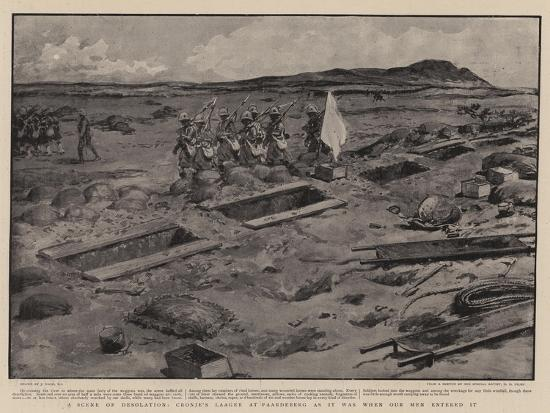 A Scene of Desolation, Cronje's Laager at Paardeberg as it Was When Our Men Entered It-Joseph Nash-Giclee Print