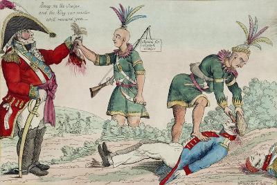 A Scene on the Frontiers as Practised by the Humane British and their Worthy Allies, Pub. 1812-William Charles-Giclee Print