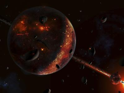 A Scene Portraying the Early Stages of a Solar System Forming-Stocktrek Images-Photographic Print