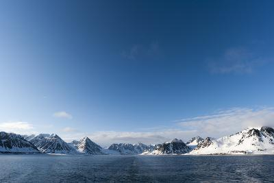 A Scenic View of Ice Covered Mountains Surrounding Magdalenefjorden-Sergio Pitamitz-Photographic Print