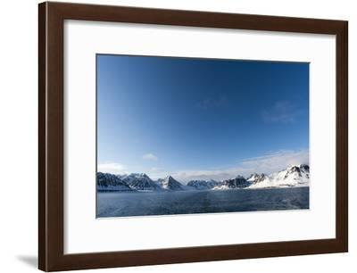A Scenic View of Ice Covered Mountains Surrounding Magdalenefjorden-Sergio Pitamitz-Framed Photographic Print
