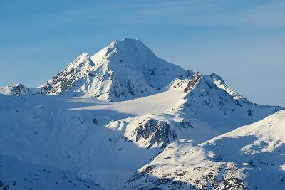 A Scenic View of Jagged, Snow-Covered Peaks in the Chilkat Range-Bob Smith-Photographic Print