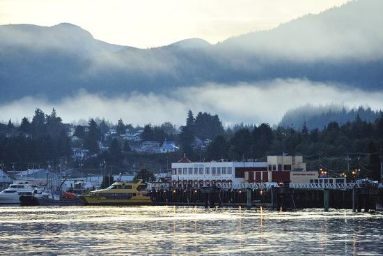 A Scenic View of Prince Rupert's Waterfront Community, at Sunrise-Jonathan Kingston-Photographic Print