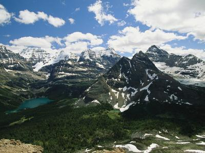 A Scenic View of Snow-Capped Rocky Mountains in Yoho National Park-Michael Melford-Photographic Print