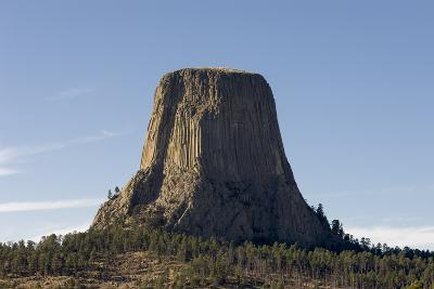 A Scenic View of the Devil's Tower in Warm Sunlight-Sergio Pitamitz-Photographic Print