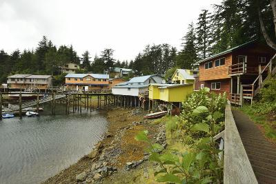 A Scenic View of the Harbor, Boardwalk and Homes Along Elfin Cove-Jonathan Kingston-Photographic Print
