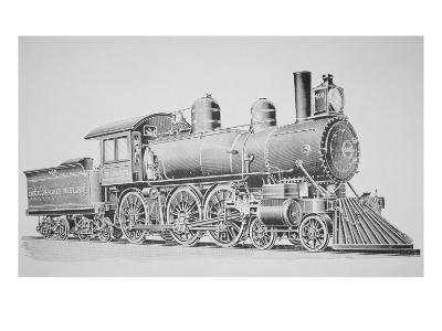 A Schenectady Locomotive-American School-Giclee Print