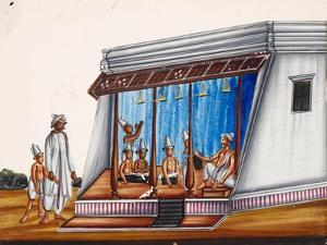 A School Called Gurunkul, with Students Wearing a Dhoti, or Loincloth, from Thanjavur, India