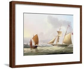 A Schooner and Other Shipping-Thomas Buttersworth-Framed Giclee Print