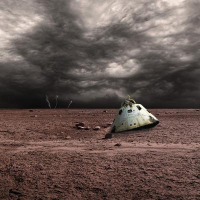 A Scorched Space Capsule Lies Abandoned on a Barren World-Stocktrek Images-Photographic Print
