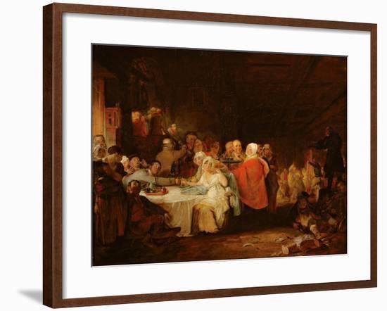 A Scotch Wedding, 1811 (Panel)-William Home Lizars-Framed Giclee Print