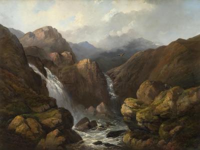 A Scottish Waterfall-Edward Train-Giclee Print