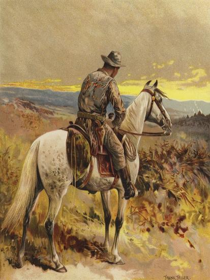 A Scout - North America-Frank Feller-Giclee Print