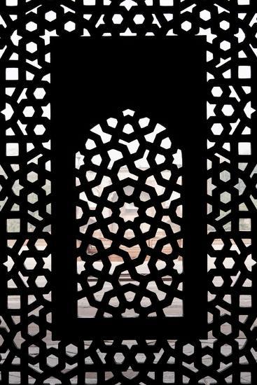 A Screened Window at the Tomb of the Mughal Emperor Humayun-Jonathan Irish-Photographic Print