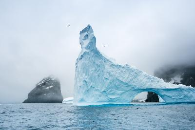 A Sculpted Iceberg Near Elephant Island, Antarctica-Ralph Lee Hopkins-Photographic Print