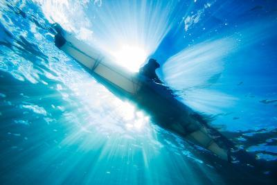 A Sea Kayaker from Below-Ben Horton-Photographic Print