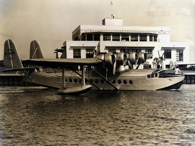 A Seaplane at the Pan Am Seaplane Base, Dinner Key, Florida, 1930s--Photographic Print