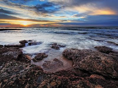 A Seascape at Sunrise from Miramar, Argentina-Stocktrek Images-Photographic Print