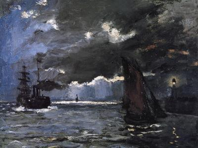 A Seascape, Shipping by Moonlight-Claude Monet-Giclee Print