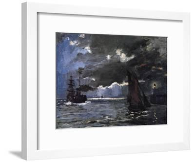 A Seascape, Shipping by Moonlight-Claude Monet-Framed Giclee Print