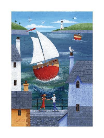 A Seaside Town-Peter Adderley-Art Print