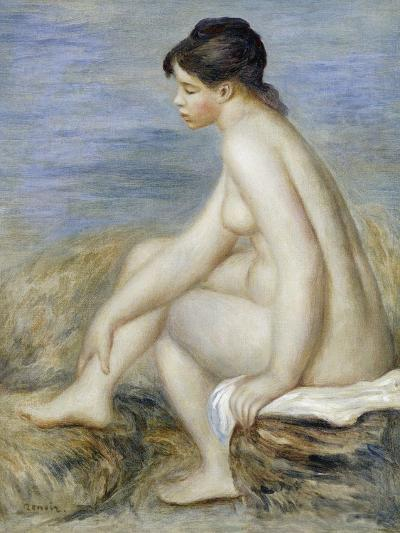 A Seated Bather-Pierre-Auguste Renoir-Giclee Print