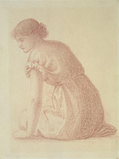 A Seated Figure of a Woman, 19th Century-Edward Burne-Jones-Giclee Print
