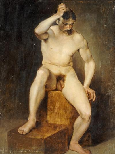 A Seated Male Nude-Hans Von Staschiripka Canon-Giclee Print