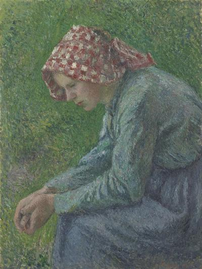 A Seated Peasant Woman, 1885-Camille Pissarro-Giclee Print