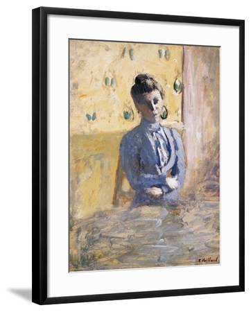 A Seated Woman in Blue; Femme En Bleu Assise-Edouard Vuillard-Framed Giclee Print