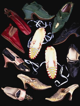 A Selection of 18th and Early 19th Century Ladies Shoes