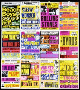 A Selection of British Concert Posters, 1960s