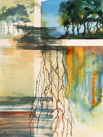 A Semi-Abstract Watercolor Painting-clivewa-Art Print