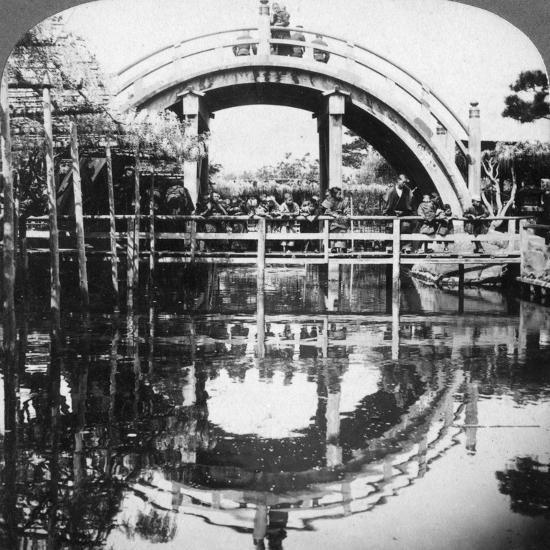 A Semi-Circular Bridge in Japan, 1896-Underwood & Underwood-Photographic Print