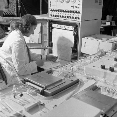 A Sequential Multi Analyser Machine at Rotherham General Infirmary, 1967-Michael Walters-Photographic Print