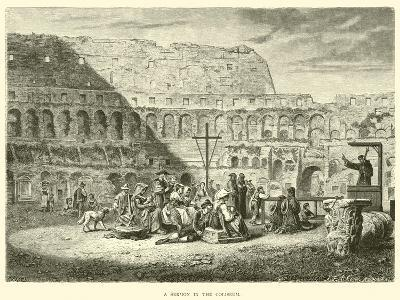 A Sermon in the Coliseum--Giclee Print