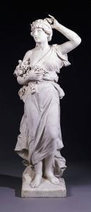 A Set of Four Italian White Marble Figures Emblematic of the Seasons - Spring, Late 19th Century